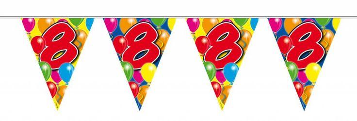 verjaardagslingers 8 jaar - Google zoeken
