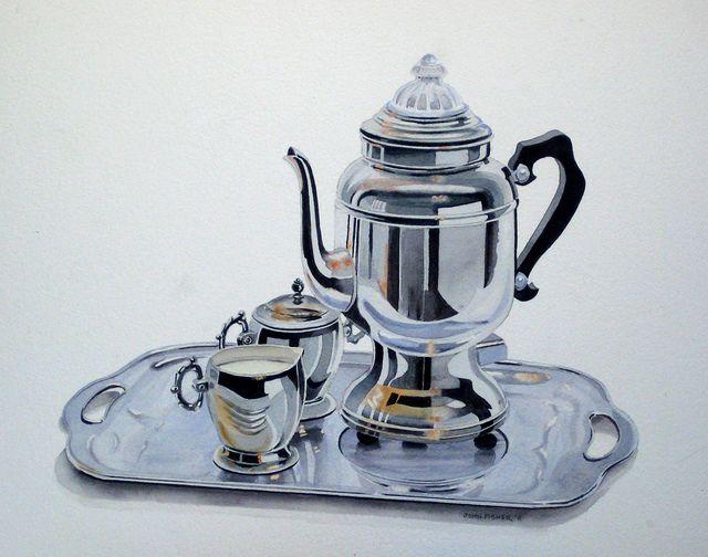 Silver Dervice, watercolor demo