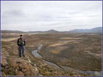 Warren Prior overlooking the Sani River