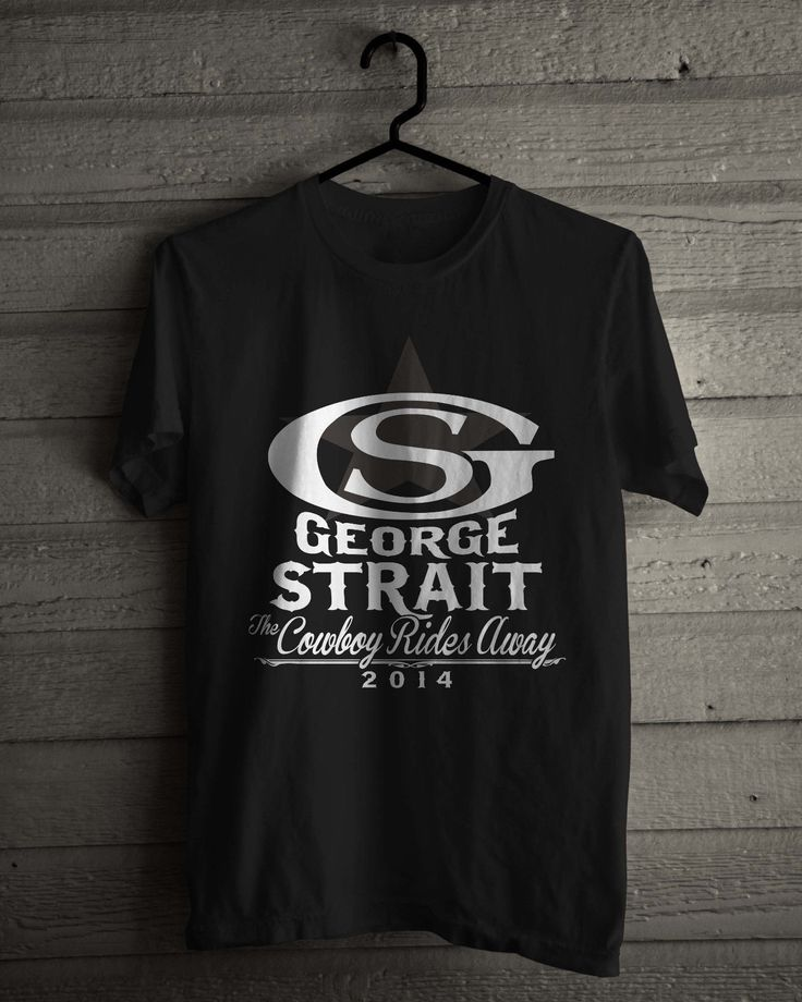 2017 summer fashion o-neck George Strait T-Shirt, American King of Country music singer Black / White Tee Size S-2XL