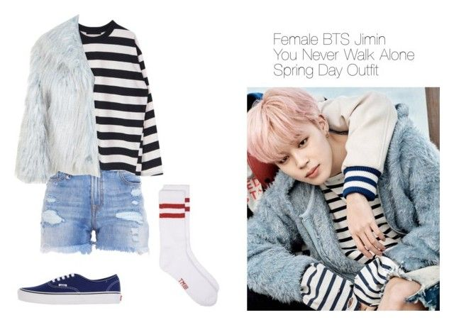 """""""Female BTS Jimin You Never Walk Alone Spring Day M/V Outfit"""" by dpinkstar ❤ liked on Polyvore featuring R13, Vans and Miss Selfridge"""