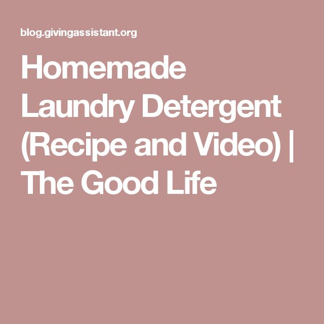 homemade laundry detergent recipe and video the good life cleaning pinterest homemade. Black Bedroom Furniture Sets. Home Design Ideas