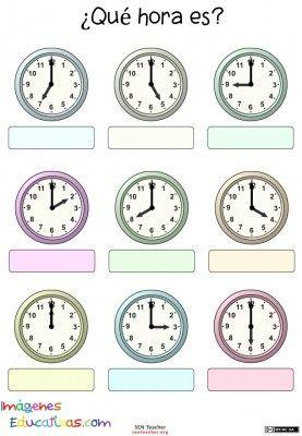trabaja las horas y los relojes con estas fichas para conocer y repasar las horas clase de. Black Bedroom Furniture Sets. Home Design Ideas