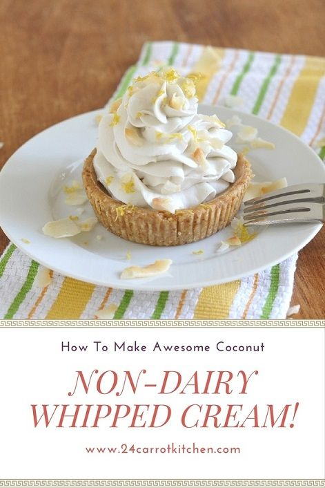 How To Make Awesome Coconut Non-Dairy Whipped Cream! vegan, dairy free, paleo friendly, gluten free, grain free, coconut milk