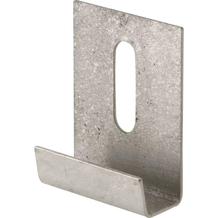 Prime-Line J-Style Stainless Steel Mirror Hanger Clip with Screw-U 9254