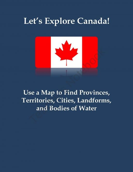 Let's Explore Canada! Find Canadian Provinces & More on a Map product from MisterMitchell-com on TeachersNotebook.com