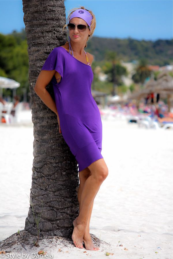 beach dress Rasurel - style by daniela - italian fashion blog - Playa de Alcudia - Mallorca