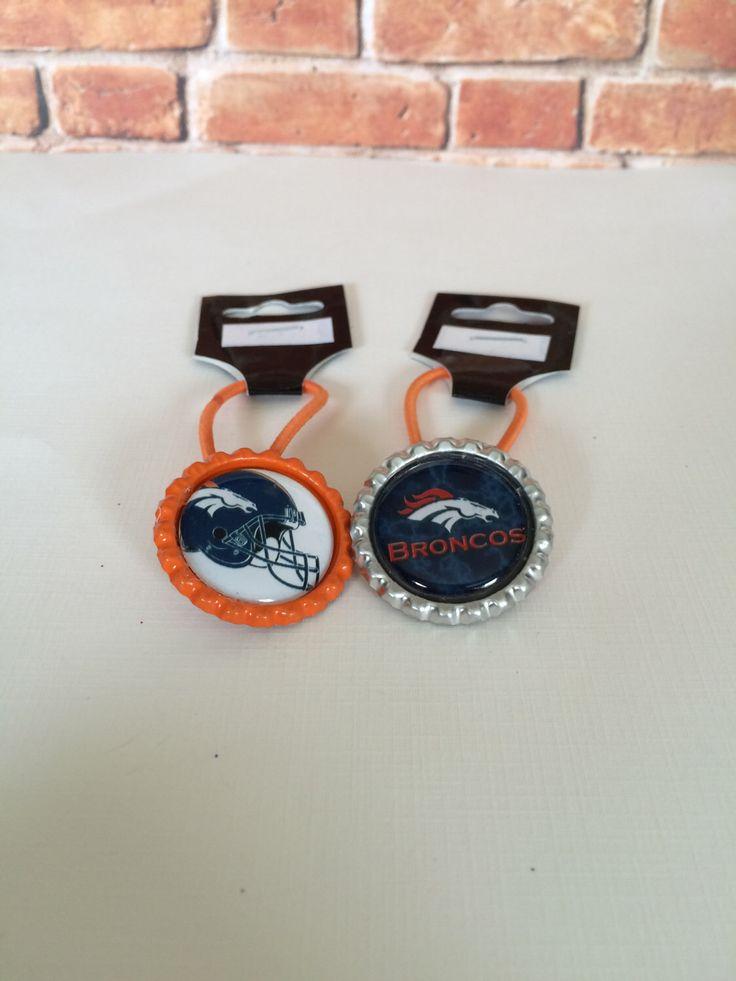 Denver Broncos hair ties from my Etsy shop https://www.etsy.com/listing/208067647/denver-broncos-pony-tail-holders-denver