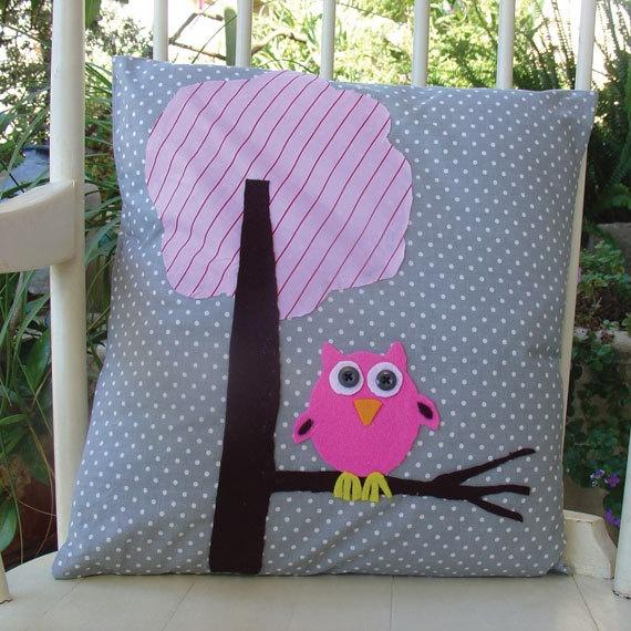 Owl Plushie owl pillow. $35.00, via Etsy.