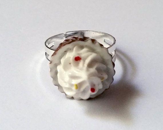 Chocolate Tart Adjustable Ring  Kawaii Ring Kawaii Jewelry