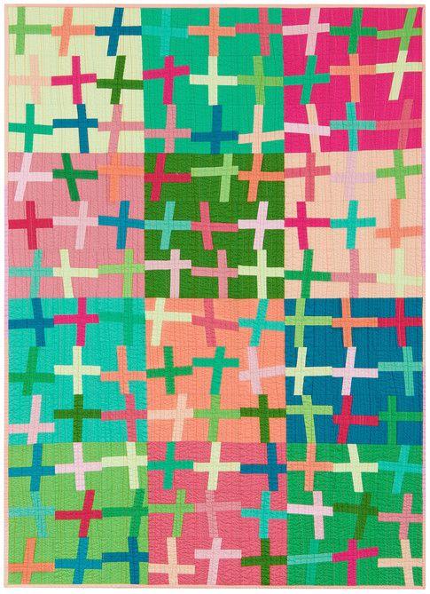 Kona Crossing designed by Jaceycraft. Features #konacotton. FREE pattern will be available to download from robertkaufman.com in November 2015. #FREEatrobertkaufmandotcom