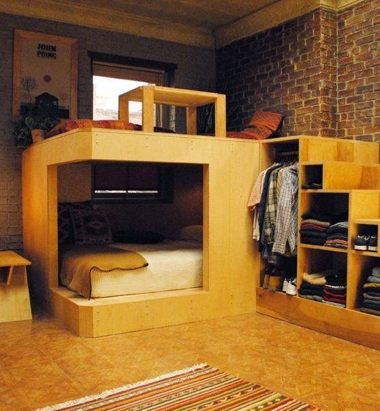 Bedroom in the corner