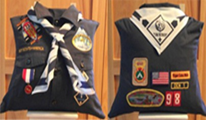 Pillow made from Cub Scout uniform for a keepsake. Love it!