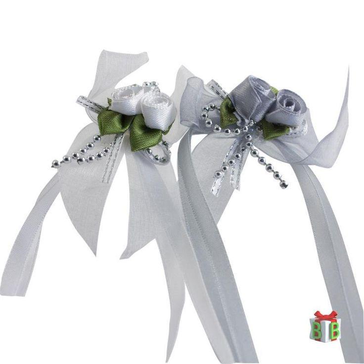 antennlint, trouwauto versiering van luxe satijnen linten