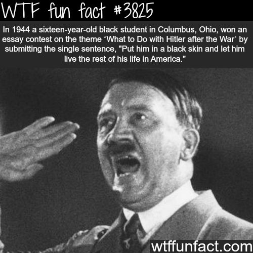 Black students won the essay contest about Hitler - WTF fun facts