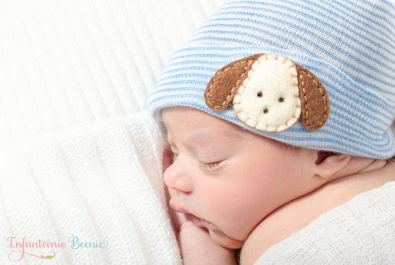 NEWBORN BOY HAT newborn hospital hat Baby boy by InfanteenieBeenie