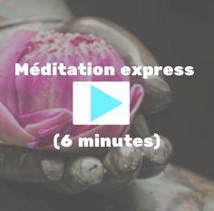 Je vous invite à faire une pause méditation de 6 minutes accompagnée de la douce voix de Nicole Bordeleau, histoire de faire baisser la pression et de retrouver la sérénité. Bonne séance!