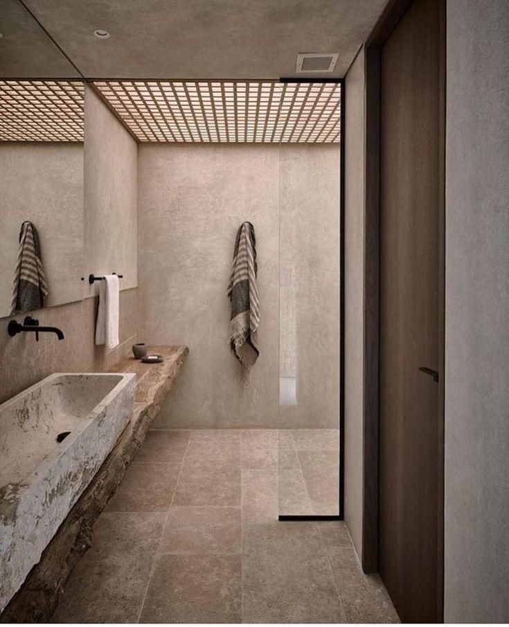 Natürliche Güte in diesem Badezimmer in Griechenland