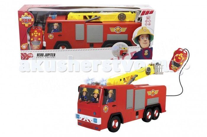 """Dickie Пожарный Сэм пожарная машина Юпитер 62 см  Dickie Пожарный Сэм пожарная машина Юпитер 62 см   Пожарная машина """"Юпитер"""" - это незаменимое транспортное средство пожарного Сэма из одноименного мультфильма. Именно на этой пожарной машине Сэм спешит на вызов. Игрушечная машинка полностью копирует внешний вид мультяшной машинки, чем непременно понравится маленьким поклонникам этой интересной истории.   Особенности: Пожарная машина """"Юпитер"""" управляется при помощи дистанционного пульта…"""