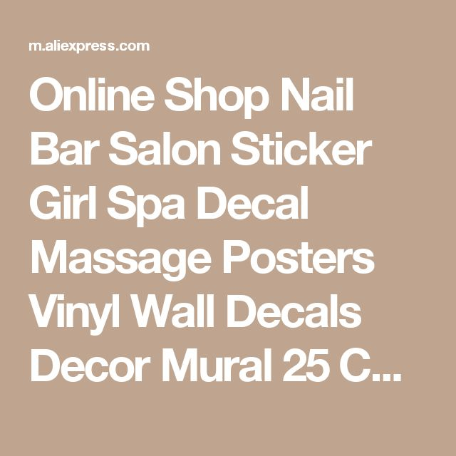 Online Shop Nail Bar Salon Sticker Girl Spa Decal Massage Posters Vinyl Wall Decals Decor Mural 25 Color Choose Nail Salon Sticker | Aliexpress Mobile
