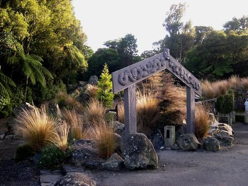Otari Native Botanic Garden - Wellington, New Zealand. 12.4 acres 20th century botanical in native forest style
