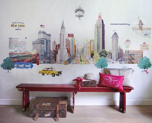 Mejores 60 im genes de murales decorar paredes y - Habitaciones con murales pintados ...