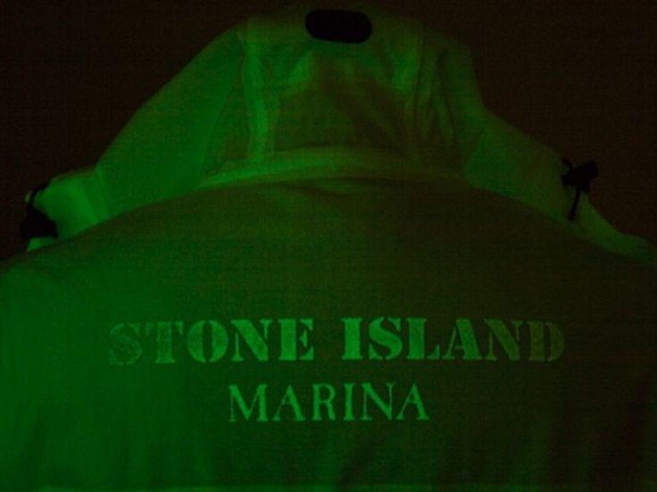 Stone Island NIGHT GLOW STONE ISLAND MARINA CAPO INTERAMENTE LUMINESCENTE Size s - Light Jackets for Sale - Grailed