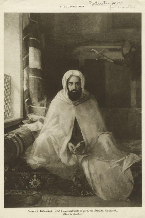 Portrait d'Abd-el-Kader peint à Constantinople en 1866, par Stanislas Chlebowski.