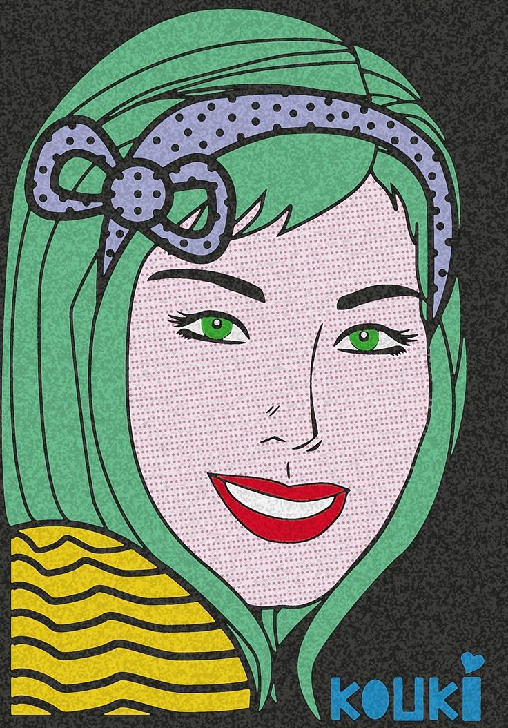 KOUKI Graphic Design Selfportrait..pop art inspiration