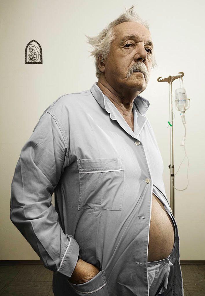 Client : 3 Lire Primo Giorno // copyrighted GIACOMO BIAGI  #grandpa #hospital #flebo