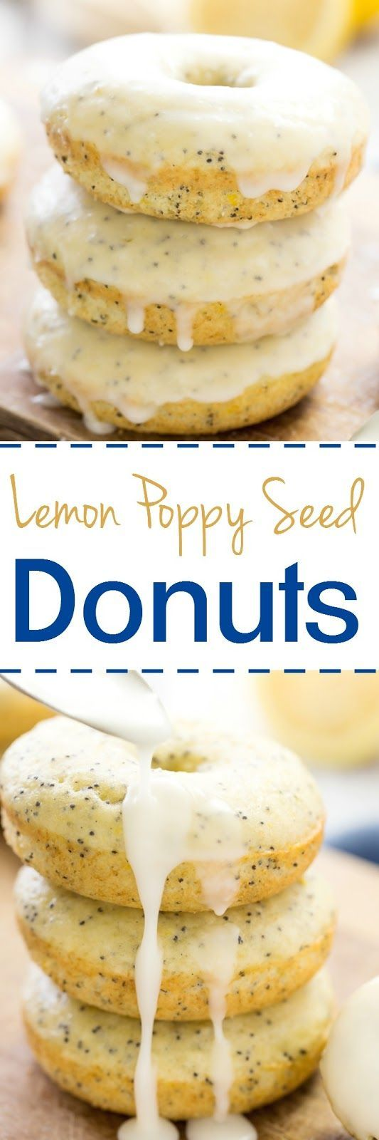 These baked lemon poppy seed donuts are just a nice treat to satisfy your sweet tooth without a too many calories.