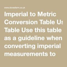 Imperial to Metric Conversion Table Use this table as a guideline when converting imperial measurements to metric.  1 pound (lb) = 16 ounces  1 kilo (kilogram / kilo) = 1000g  ½ oz10 g ¾ oz20 g 1 oz25 g 1½ oz40 g 2 oz50 g 2½ oz60 g 3 oz75 g 4 oz110 g 4½ oz125 g 5 oz150 g 6 oz175 g 7 oz200 g 8 oz225 g 9 oz250 g 10 oz275 g 12 oz350 g 1 lb450 g 1 lb 8 oz700 g 2 lb900 g 3 lb1.35 kg
