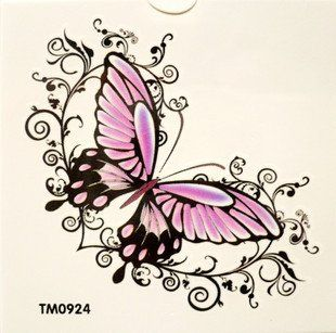 purple and pink butterfly tattoo designs - Google Search