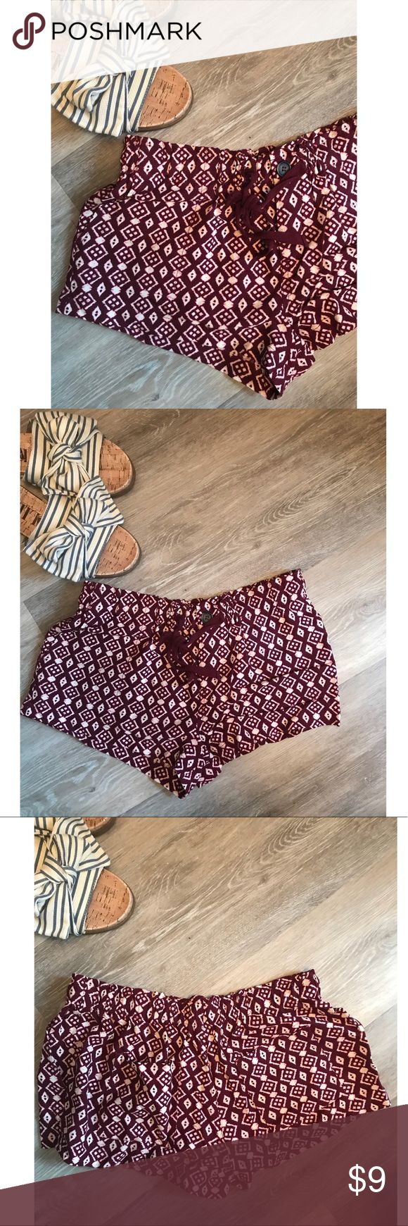 Forever 21 Aztec shorts They are worn but in good condition. Dry cleaned and ready to ship. Sorry no trades xo Forever 21 Shorts