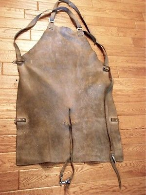VINTAGE LEATHER APRON - WELDING, GLASS BLOWING, BLACKSMITH ? | eBay