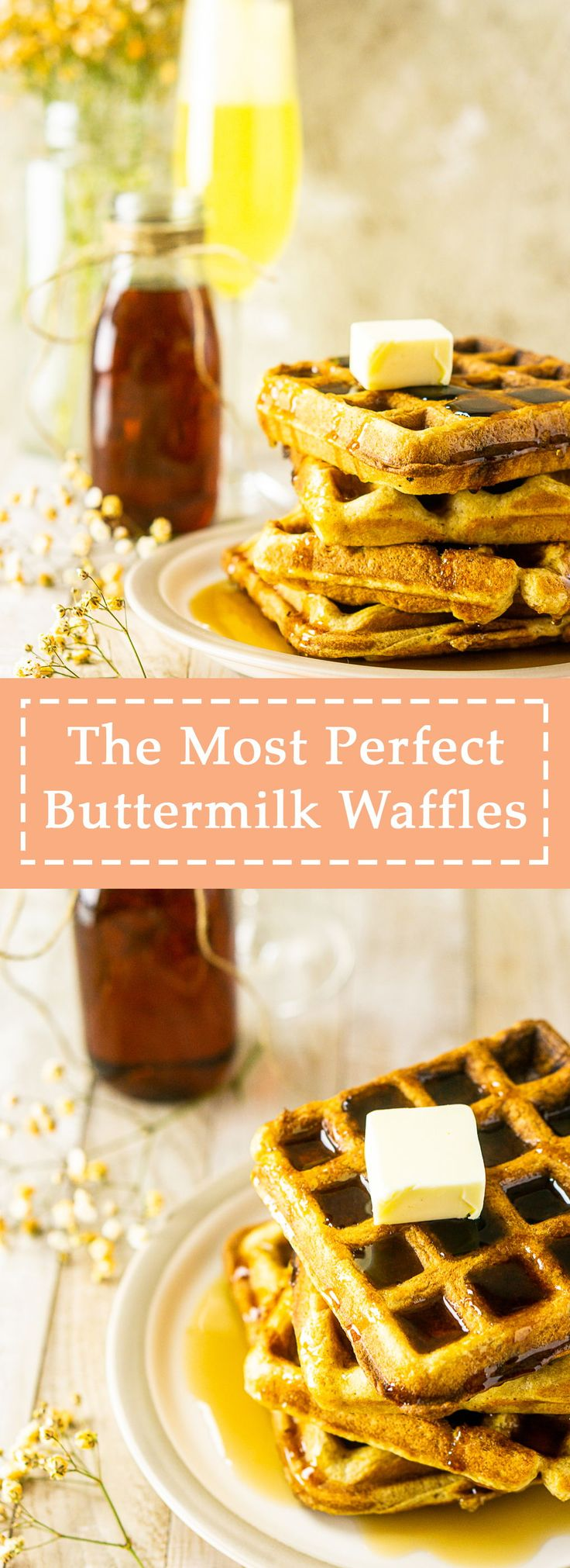 Your search for the most perfect buttermilk waffles recipe is over! This easy waffle recipe will become your new brunch…