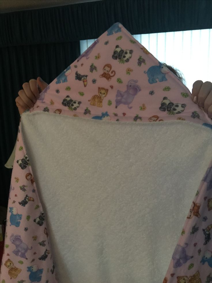 Bath towel I made for granddaughter Piper in 2015
