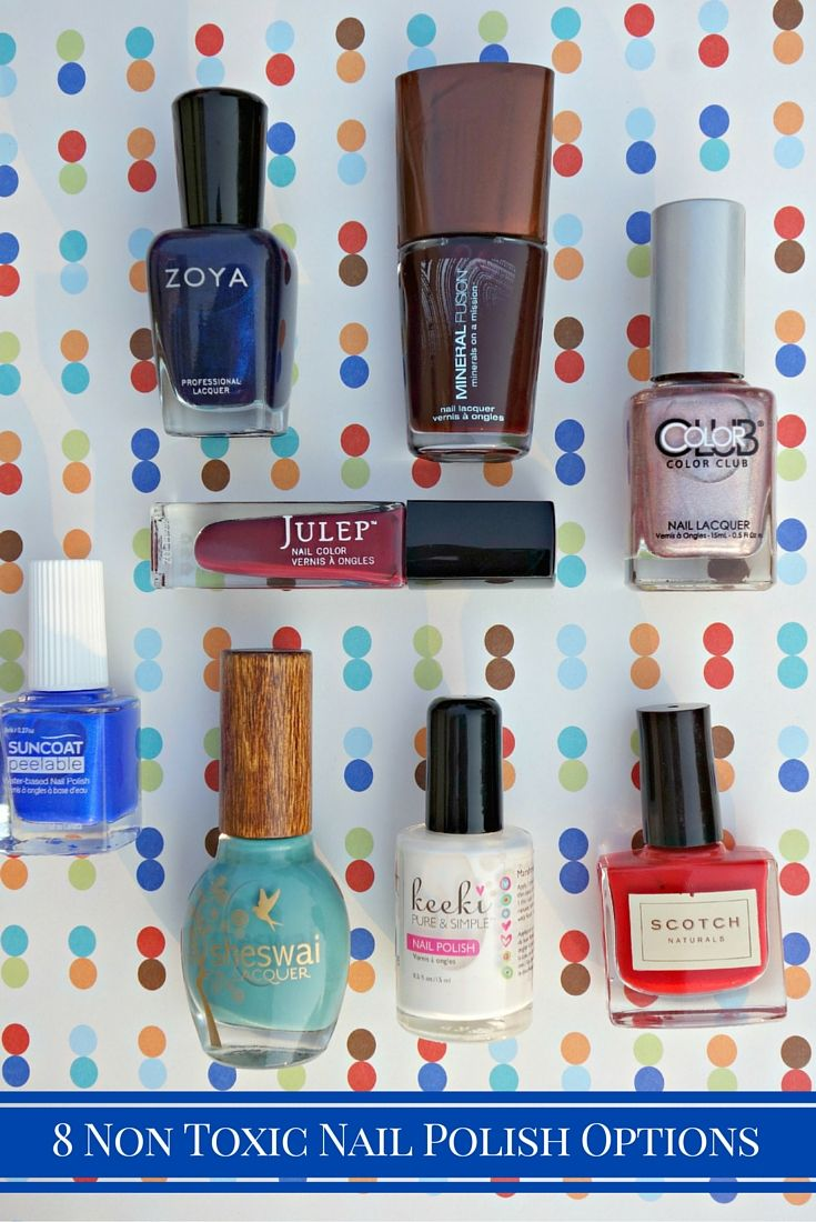Trying to move towards using non toxic nail polish? Here is a Non Toxic Nail Polish List of options for you to try.