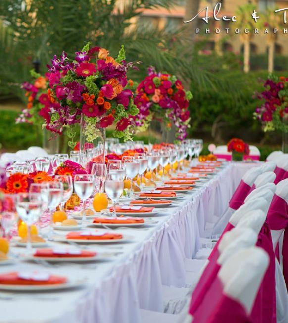 Stylish Caribbean  Island Weddings Reception Tablescapes
