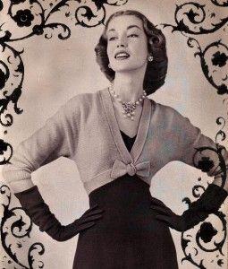 Vintage bow tie shrug knitting pattern