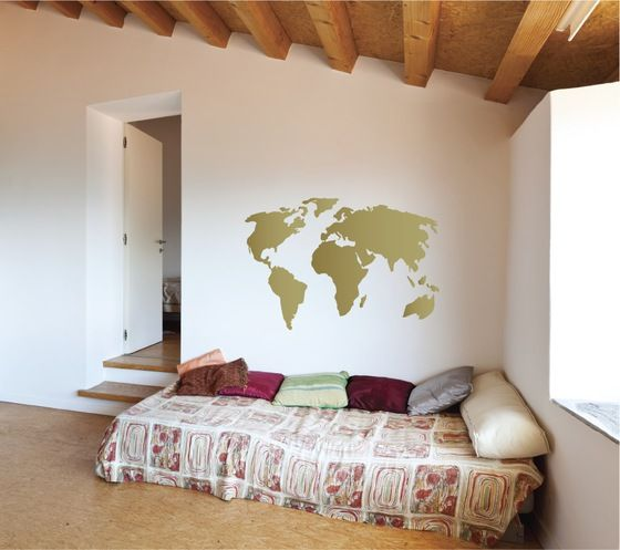 Find the World Map Wall Decal on The Decal Guru.