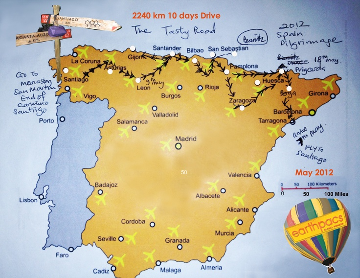 The Tasty Pilgrims Route. Eating your Way Backwards through the Camino De Santiago ! ~ Earthpacs Style !