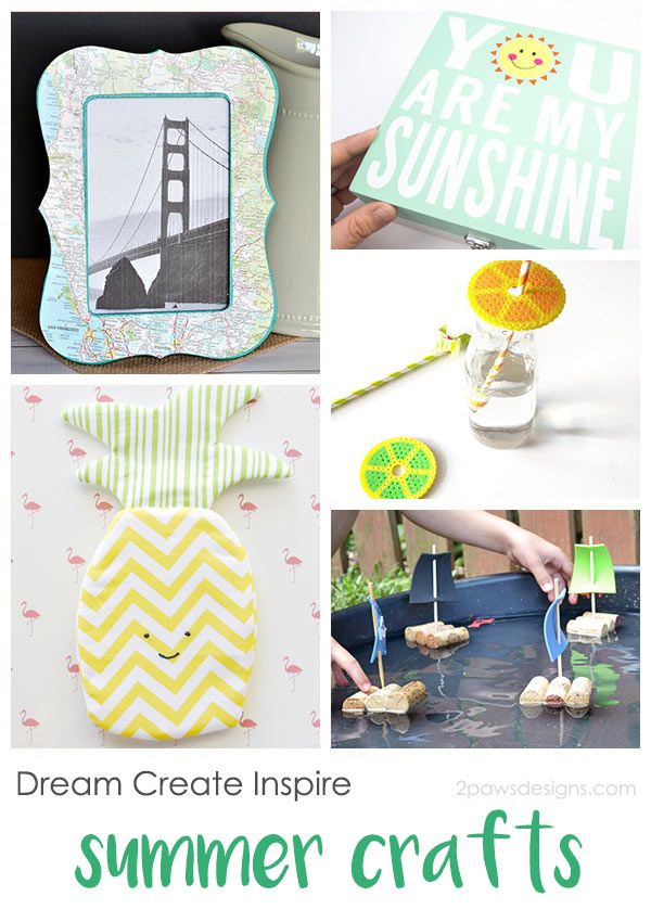 These fun summer crafts have something for everyone. Create a simple trip souvenir, store memories, make boats, and more. Which is your favorite?