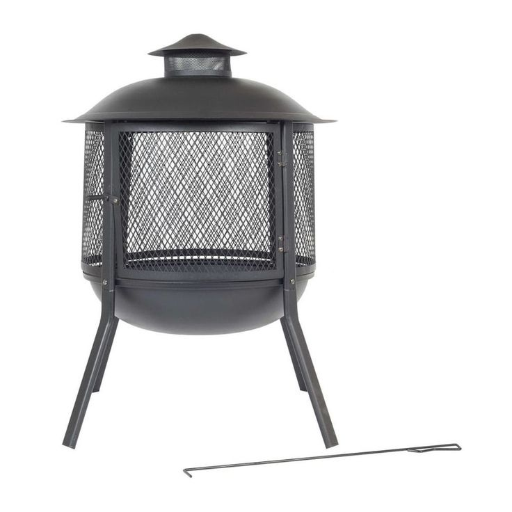 Fire Bowl Pit Home Fireplace Warmth Indoor Outdoor Décoration Round Steel Black #FireBowlPit