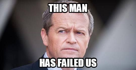 Bill Shorten stand down as leader and allow the RANK AND FILE CHOICE = ANTHONY ALBANESE TO BE THE LEADER.  IT'S TIME FOR THE LABOR PARTY TO BECOME A REAL OPPOSITION.