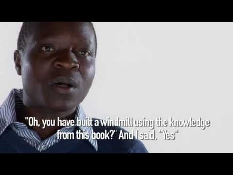 SIX MINUTES OF INSPIRATION FROM MALAWI: William Kamkwamba's parents could not afford his education, so he educated himself by reading books in the library. There he got the idea to build a windmill to provide his village with electricity.