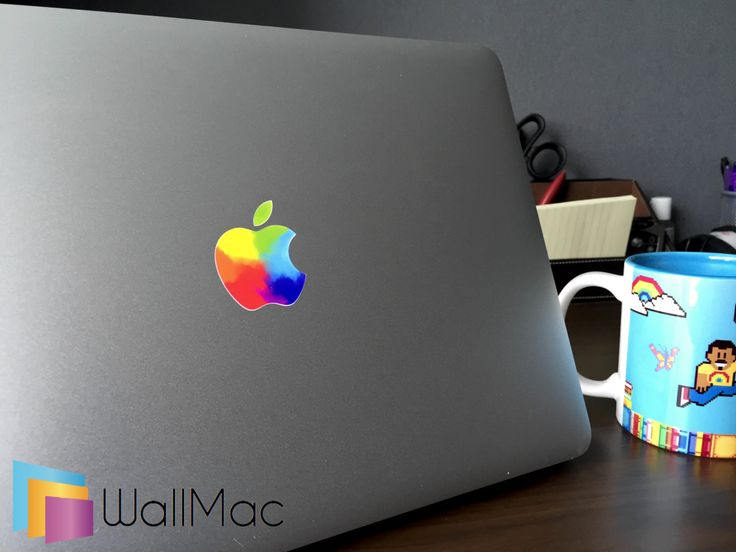 Colorful Apple Logo Glowing Backlit Apple Logo for MacBooks 2 Decals Stickers per Order by WallMac on Etsy