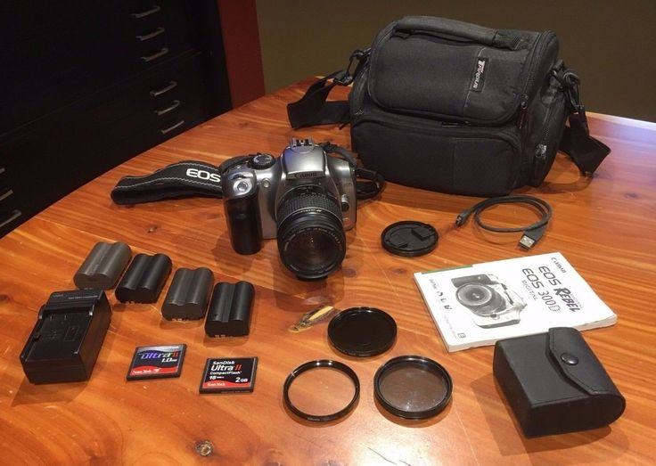 Canon Rebel SLR 300D Digital Camera + Accessories Good Condition! Kit Bag EXTRAS: $86.00 (7 Bids) End Date: Sunday Aug-6-2017 14:20:02 PDT…