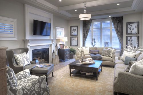 Lounge In Style In This Luxurious Living Room From Mattamy