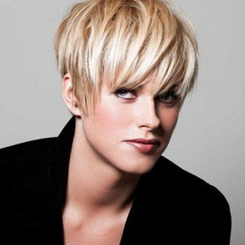 Short Sparkling Fluffy Full Bang Synthetic Hair Wig Full